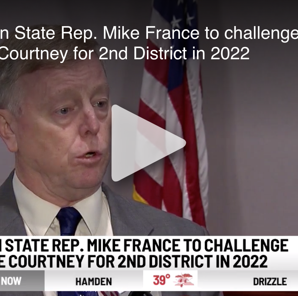 Republican State Rep. Mike France to challenge U.S. Rep. Joe Courtney for 2nd District in 2022